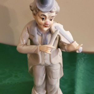 Porcelain Clown Figurine Playing the Violin KPM PO